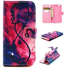 """iphone 6 plus Case, iphone 6 (5.5"""") Case, Trees Camo Durable Premium PU Leather Flip Folio Book Style Wallet Protective Skin Pouch Phone Case & Magnetic Closure with Credit/ID Card Slot (A16)"""