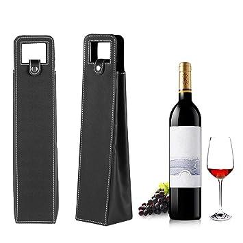 Bolsa de transporte para botella de vino de piel ...