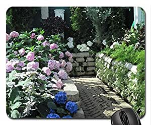 Flowers mid-summer 26 Mouse Pad, Mousepad (Flowers Mouse Pad, Watercolor style)