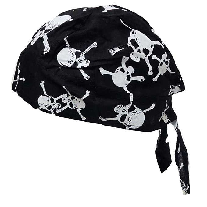 46464276cd4 Amazon.com: 1pc Cotton Paisley Skull Cap Du Rag Head Wrap Motorcycle ...