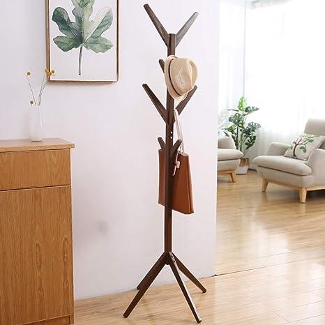 Perchero de pie Perchero de madera Estante de soporte 8 ...