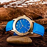 Pocciol Wristwatch,Unsex Classic Analog Unique Date Leather Strap Sport Quartz Military Sports Wrist Watch Clock