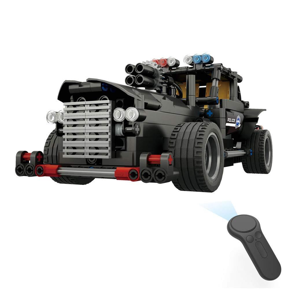 Build Rc Car >> Amazon Com Wabaodan Bb13007 462pcs Diy Command Vehicle 2 4g