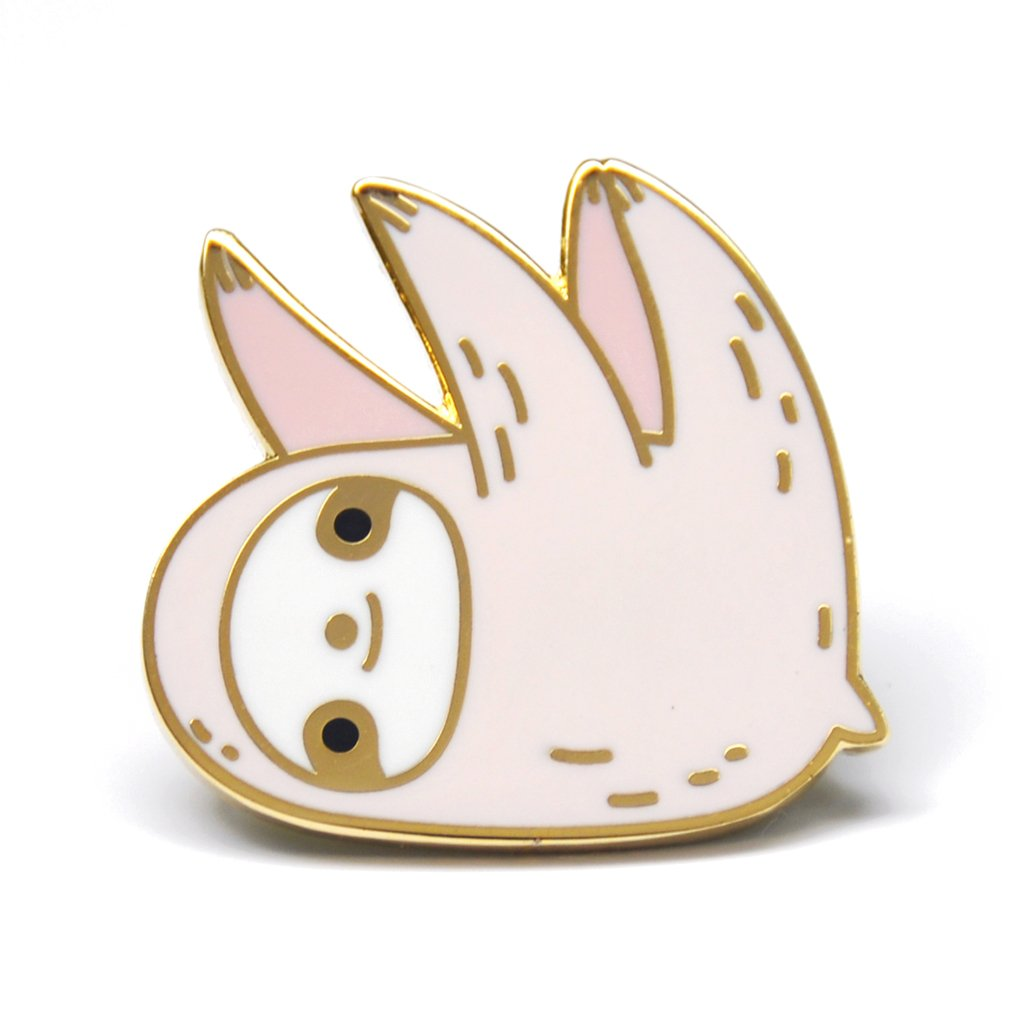 Noristudio 18K Gold Plated Sloth Enamel Pin (pink)