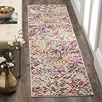 Safavieh Monaco Collection MNC241G Modern Abstract Pixels Grey and Multicolored Distressed Runner (22 x 12)