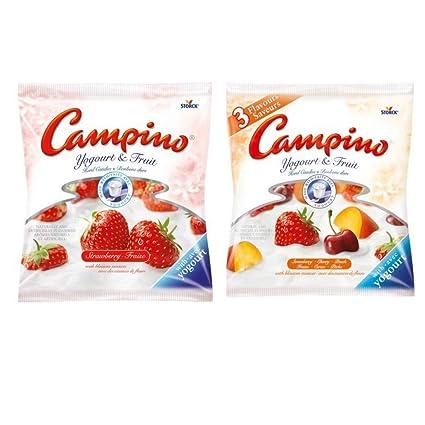 Paquete de 2 caramelos duros para yogurt y frutas de campino ...