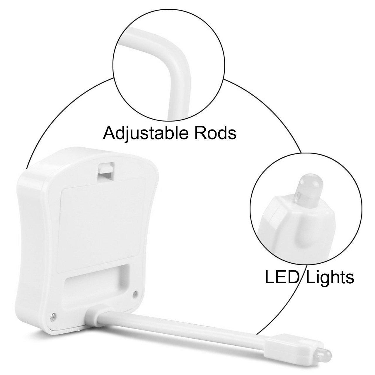 Ewolee WC Luz Nocturna Inodoro - Luz WC Sensor Movimiento Automática, Resistente al Agua para Inodoro/Baño/Aseo(8 Colores Cambios): Amazon.es: Iluminación