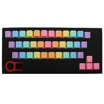 Keycap PBT 37 KeyCaps Extractor de teclado con letra lateral, extractor de teclado para juego