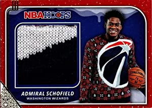 2019-20 Panini Hoops Rookie Sweater Relic #40 Admiral Schofield Washington Wizards RC Rookie NBA Basketball Trading Card