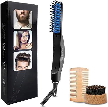 Cepillo Alisador de Pelo, Peine de Barba Cerámico Peine Electrico ...
