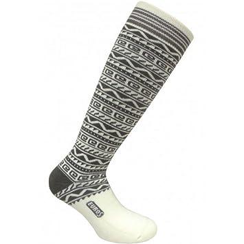 Eurosocks 0127 de Las Mujeres Calcetines de esquí Nieve Chill Azteca - par, Mujer, Color Blanco, tamaño Mediano: Amazon.es: Deportes y aire libre