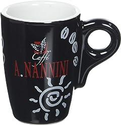 Caffè A. Nannini Tazza Collezione Nera - 6 tazzine con piattino