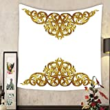 Madeleine Ellis Custom tapestry ornament elements vintage gold floral designs