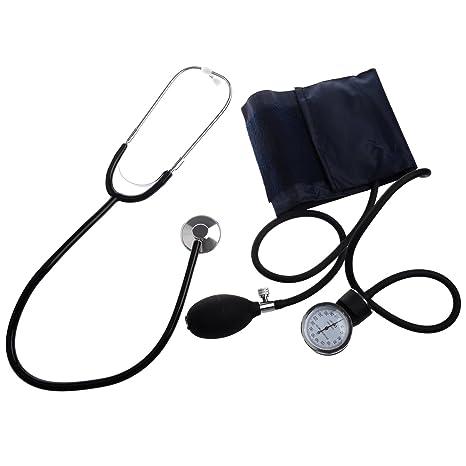 SODIAL(R) Esfigmomanometro Aneroide / Estetoscopio de Presion Sanguinea / Brazalete de Nylon: Amazon.es: Electrónica