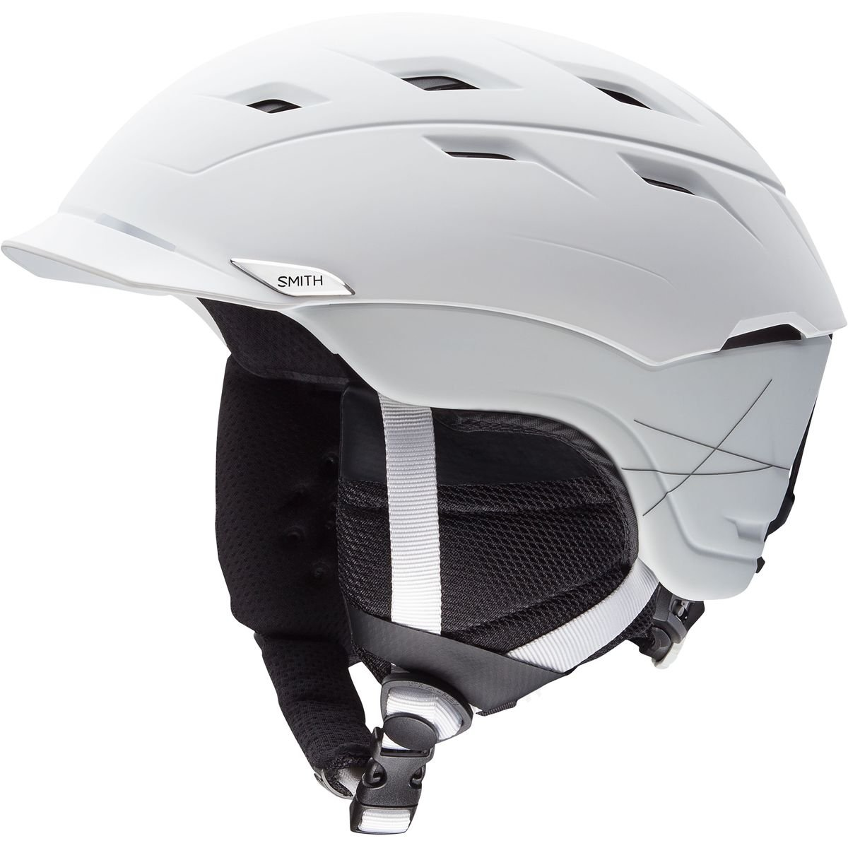 Smith Optics Variance Adult Mips Ski Snowmobile Helmet - Matte White / Medium