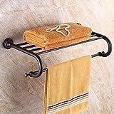 HQLCX Vintage Towel Bar, European Style Black Towel Bar