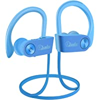 Elecder Bluetooth Headphones, Wireless Sports Earbuds Waterproof IPX7 with Microphone for Running Workout, Noise Cancelling Audifonos for Cellphone (Blue)