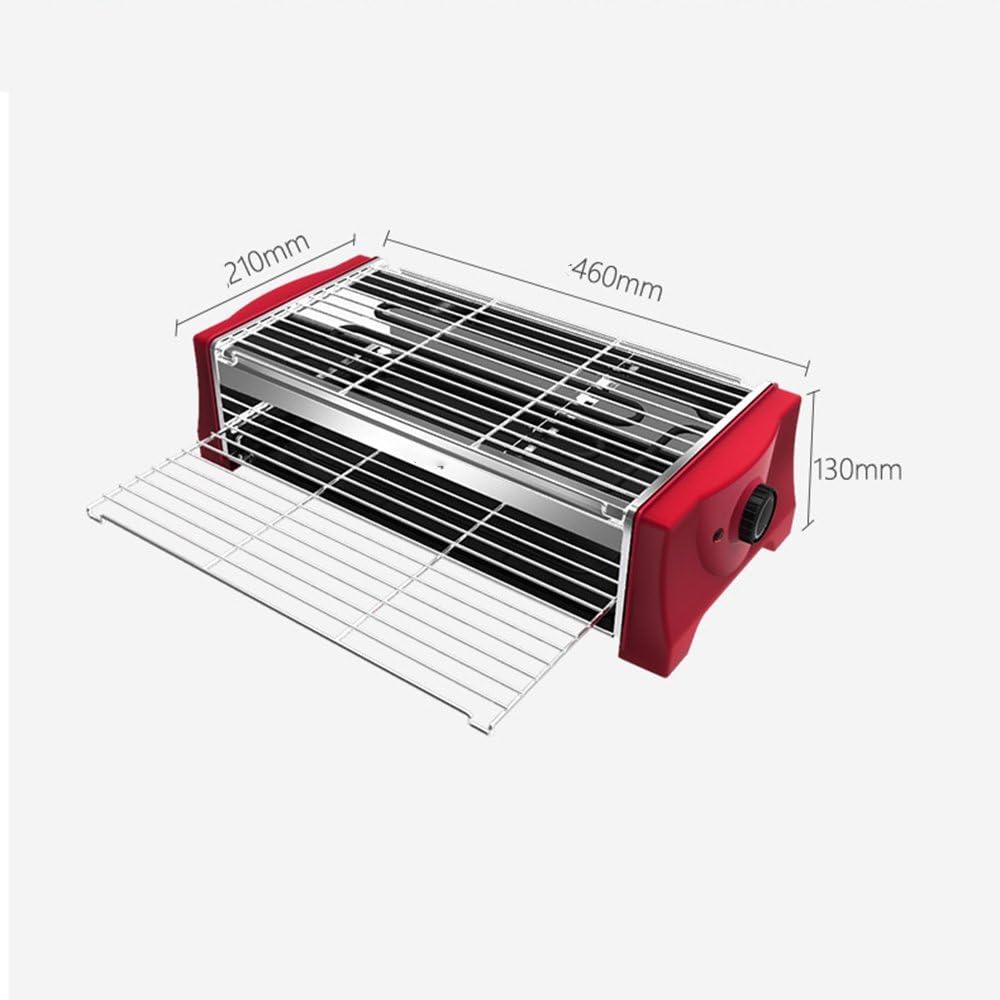 QFFL diankaolu Le Gril sans fumée de Gril électrique de ménage de Barbecue de Gril 4 Couleurs facultatives 500 * 155 * 165mm (Couleur : D) C