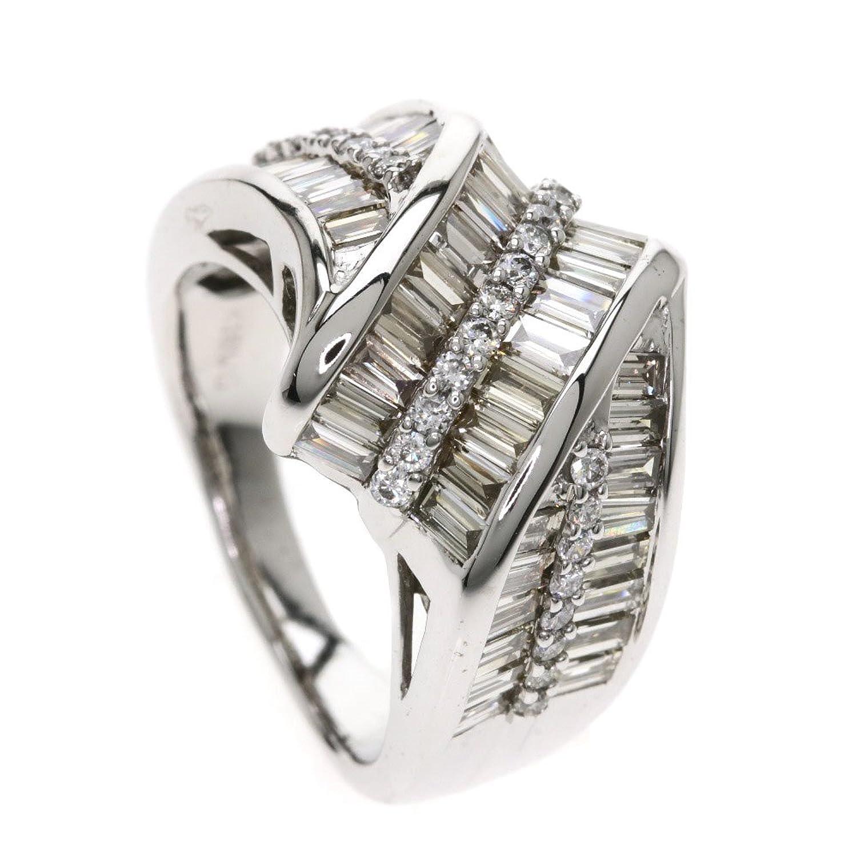 [セレクトジュエリー]メレダイヤモンド リング指輪 K18ホワイトゴールド レディース (中古) B07FKYVT3B