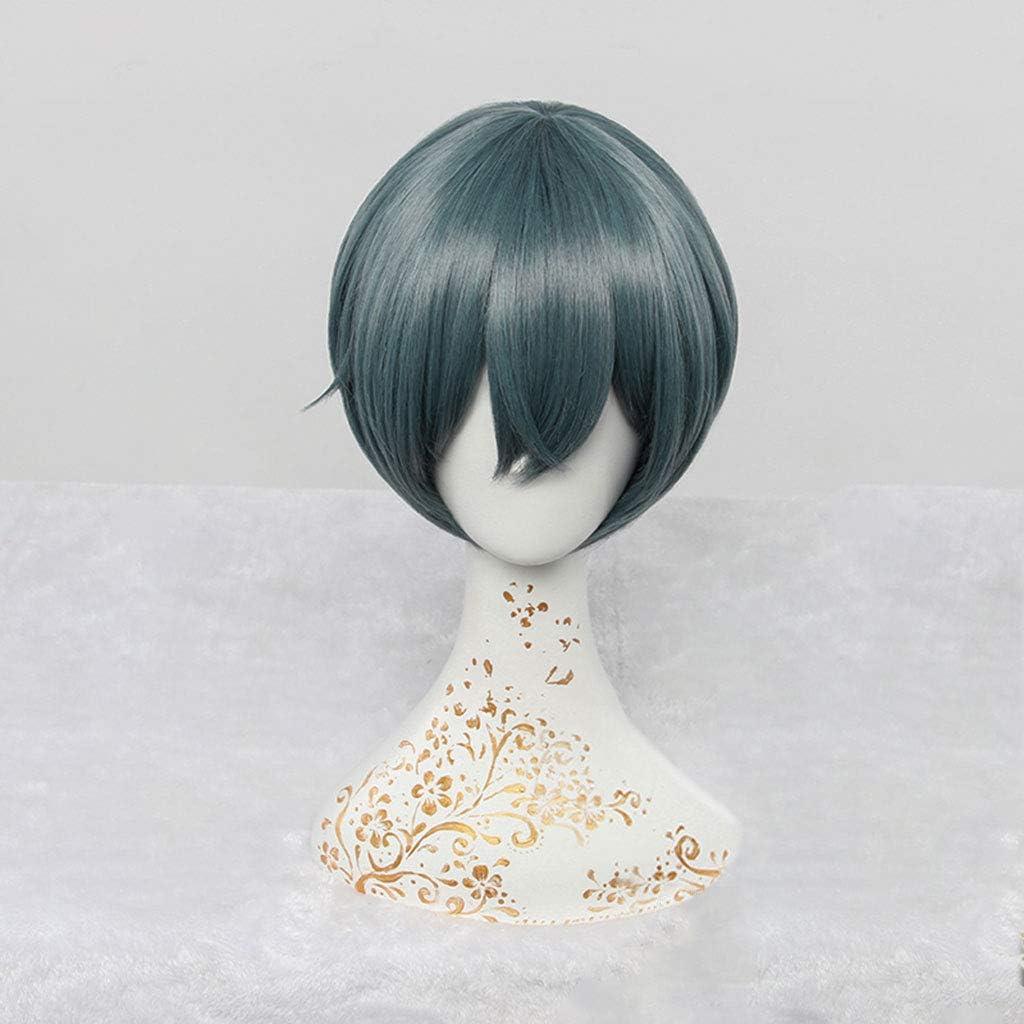 Black Butler Ciel Phantomhive Perücke wig Cosplay Blau /& Grau Kurz Glatt
