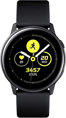 Samsung Galaxy Active Smartwatch 40mm – Black – Bonus Charging Cable – SM-R500NZKCXAR Renewed