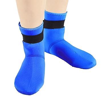 Calcetines de Playa, Zapatos de natación de Buceo, Calcetines Antideslizantes de Secado rápido Azul