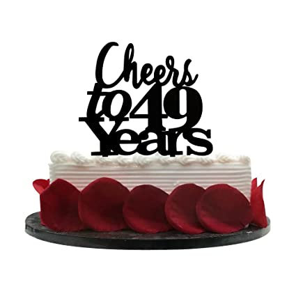 amazon com cheers to 49 years cake topper 49th birthday wedding