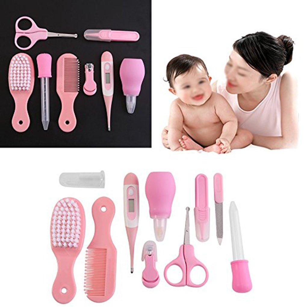10pcs para beb/é Baby Care Set Multi Funciones de Salud del Reci/én Nacido nariz limpiador u/ñas Clipper Pinzas Term/ómetro Suministros Kit Mengonee