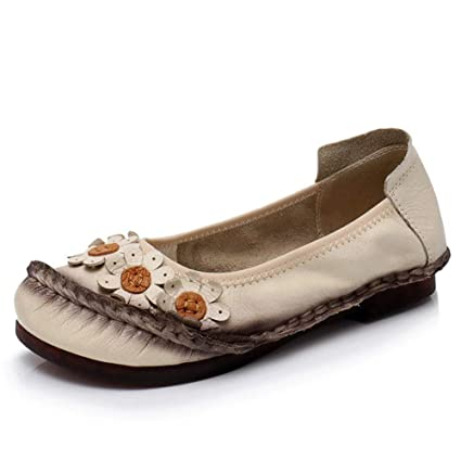 e7386aca56aa Image Unavailable. Image not available for. Color  Dreamstar Women Flats  Women Shoes Women Flower Leather Flat ...
