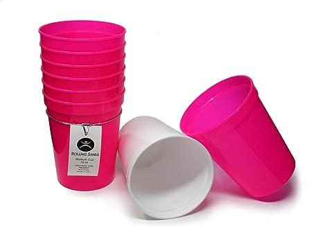Amazon.com: Vasos de plástico reutilizables Rolling Sands de ...