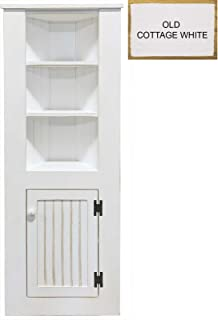 Sawdust City Tall Corner Cabinet (Old   Cottage White)