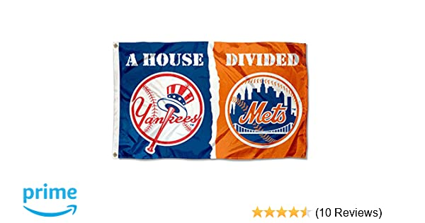 cf1114a1b173d Amazon.com   WinCraft New York Yankees and NY Mets House Divided Flag    Sports   Outdoors
