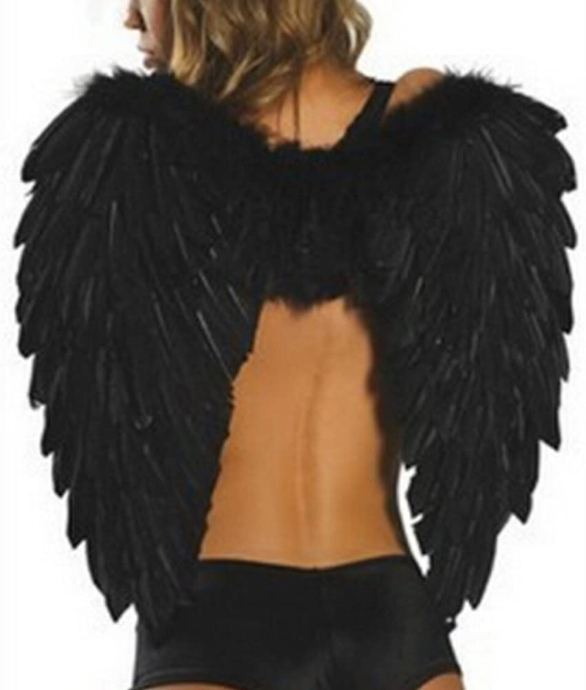 Top Feather Wings Angel Fairy Fancy Dress Costume Halloween Party Favor fashion.