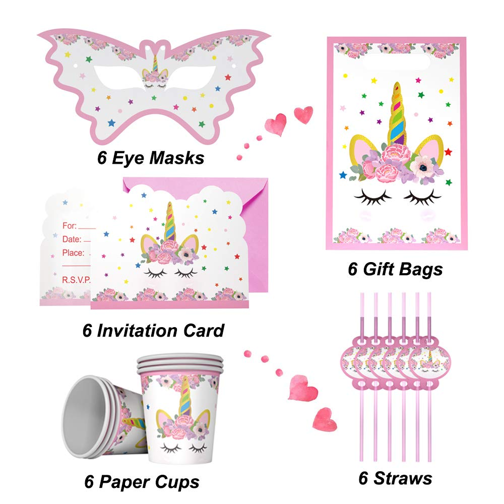Gifts For 3 12 Year Old Girls JoyJam Unicorn Party Supplies 16 Varieties