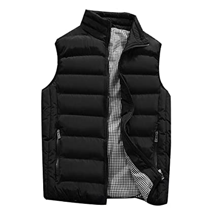 Amazon Com Big Clearance Daoroka Mens Plus Size Padded Cotton Vest
