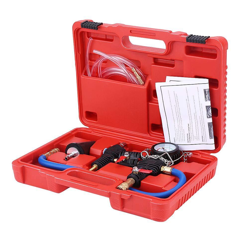 Qiilu Sistema de refrigeraci/ón de coche Purga de vac/ío y kit de herramientas de recarga de refrigerante Cambiador de anticongelante de agua