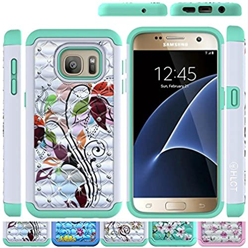 Galaxy S7 Case, HLCT Rugged Shock Proof Dual-Layer Case for Samsung Galaxy S7 (2016) (Green/White A) Sales