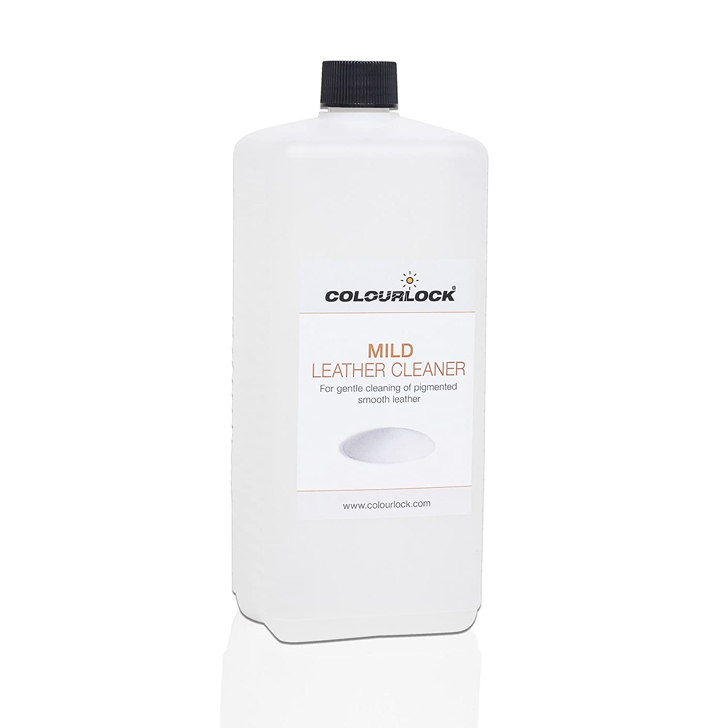 COLOURLOCK Mild Leather Cleaner for cleaning car seats, furniture suite, sofa, settee, upholstery, jackets and bags (1 Litre / 33.8fl oz) with Free Foam Dispenser Bottle Lederzentrum Gmbh H&PC-76639