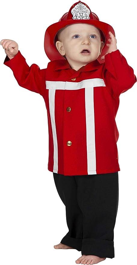 NUEVO Niño Disfraz de bombero, color rojo, talla 98: Amazon ...