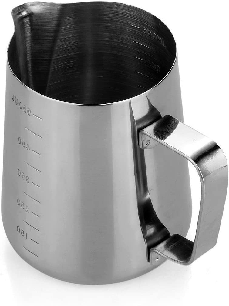 ASTrade Professional Frothing Pitcher Opening Design Heat Resisting Tea Milk Latte Jug Cup Foam Cup Cooking Tools