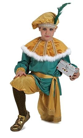 Disfraz DE PAJE MELCHOR 3-4: Amazon.es: Juguetes y juegos