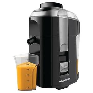 BLACK+DECKER JE2200B 400-Watt Fruit and Vegetable Juice Extractor with Custom Juice Cup