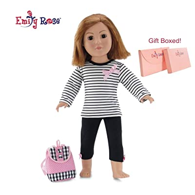 "Emily Rose 18 Inch Doll Clothes for American Girl Dolls | 3 Piece Back to School Doll Outfit | Doll Clothes for 18"" Our Generation and Journey Girl Dolls: Toys & Games"
