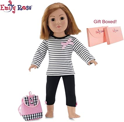 """American Girl Doll Our Generation Journey 18/"""" Dolls Clothes Striped Tights"""