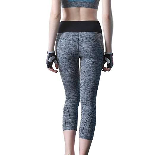 Amazon.com: Women Yoga Pants Women Seven-Cent Pants Exercise ...