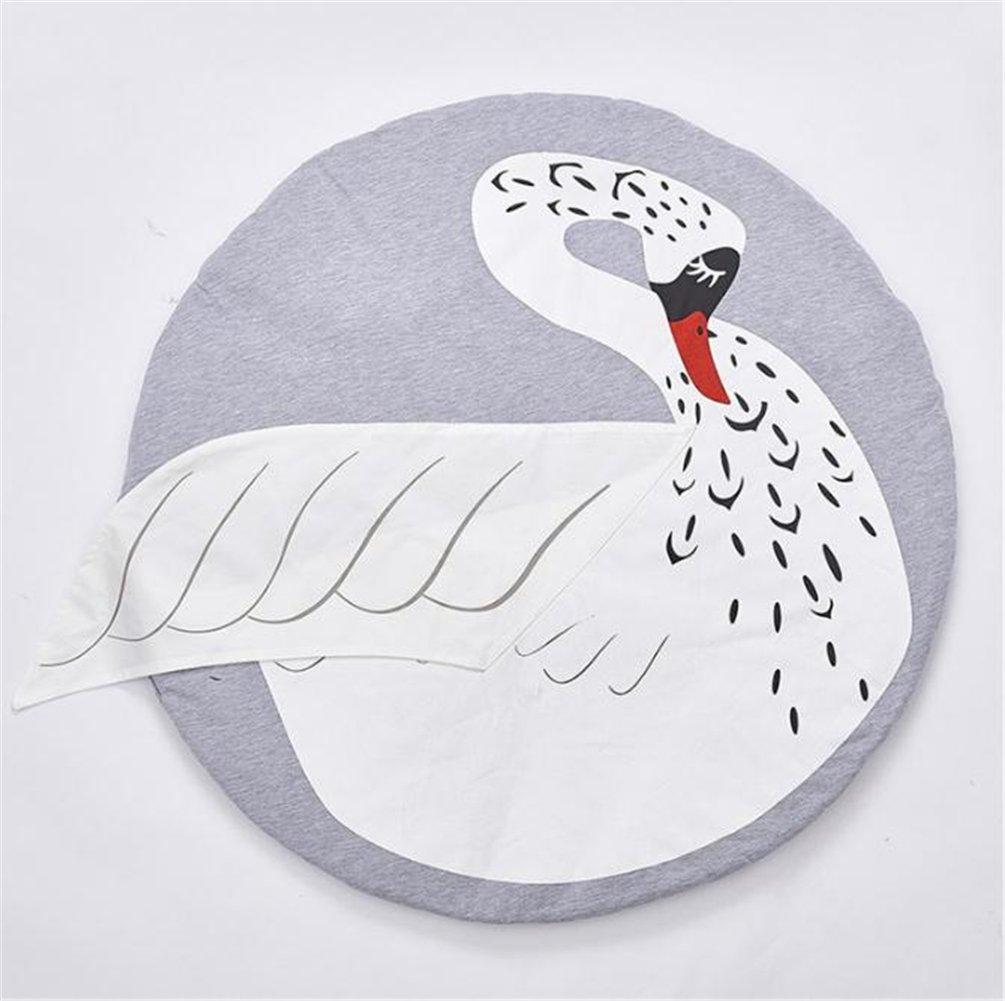 Manta de bebé con forma de oso para acurrucarse, gatear y jugar, confeccionada en algodón 100%, ideal para lactantes y niños pequeños, sin sustancias nocivas, apta también para utilizarse como cambiador dorado Swan Talla:95cm