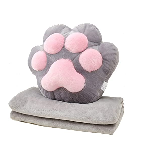 Amazon.com: Cute cat claw bear palm pillow air conditioning ...