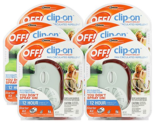 OFF! Clip-On Mosquito Repellent Fan 6-Pack
