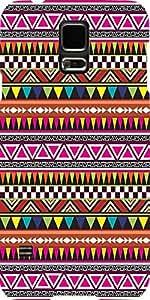 Snoogg Azteca Multicolor Diseñador Protectora Volver Funda Para Samsung Galax...