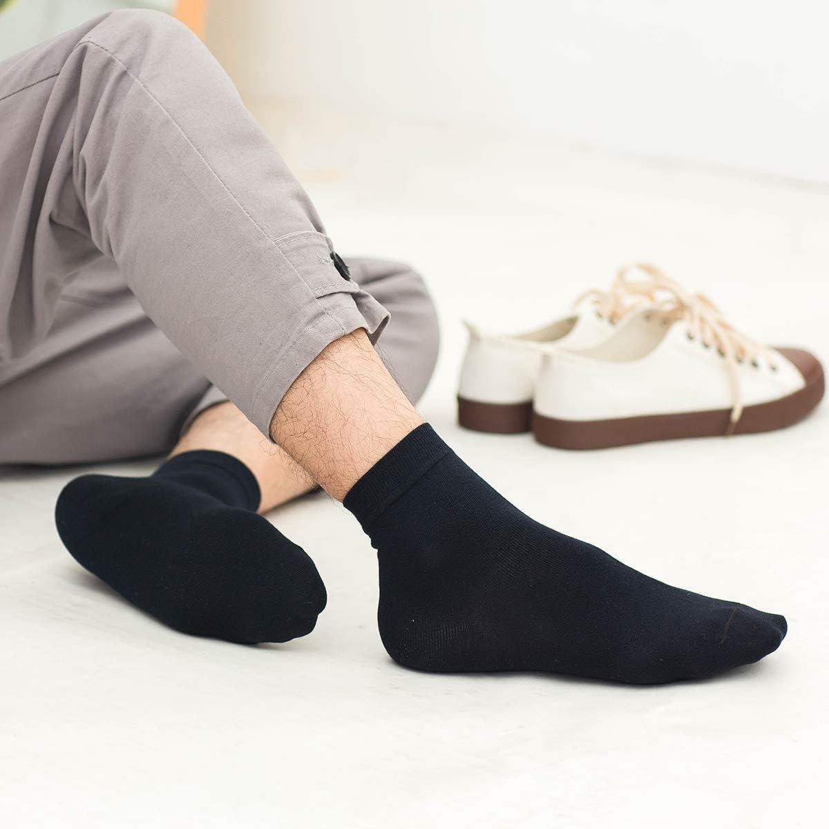 Camfosy Damen Baumwoll Socke Herbst Winter Warm Bequem Freie Gr/ö/ße Schwarz Grau